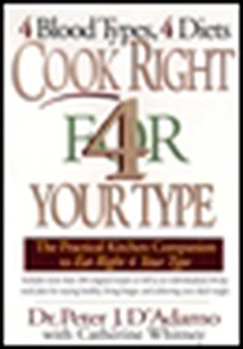 Cook Right 4 Your Type: The Practical Kitchen Companion to Eat Right 4 Your Type: D'Adamo, Dr. ...