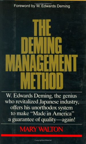 9780399150241: the Deming Management Method