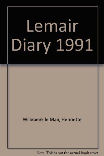 Lemair Diary 1991 (0399218173) by Henriette Willebeek le Mair