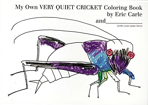 9780399244759: My Own Very Quiet Cricket Coloring Book