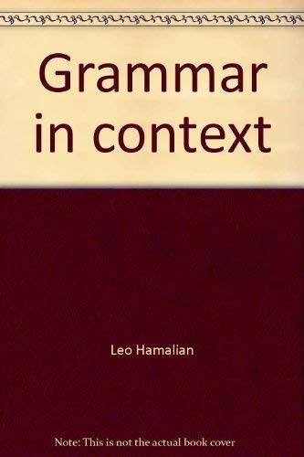 Grammar in context: Hamalian, Leo