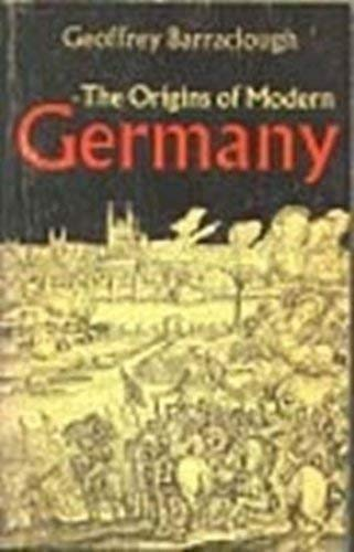 The origins of modern Germany: Barraclough, Geoffrey