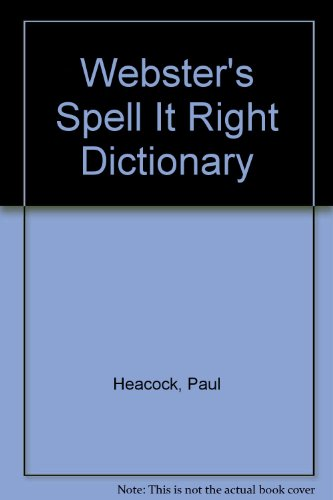 9780399512940: Webster's Spell It Right Dictionary
