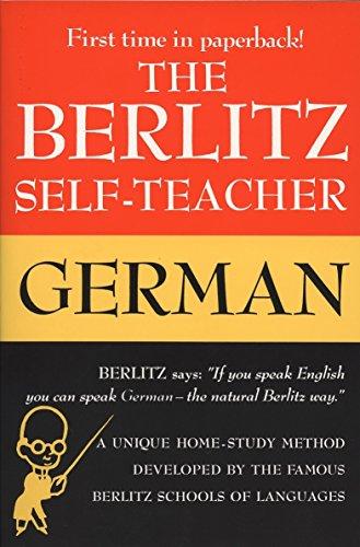 9780399513220: The Berlitz Self-Teacher: German