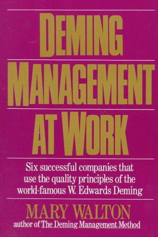 9780399516856: Deming Management at Work