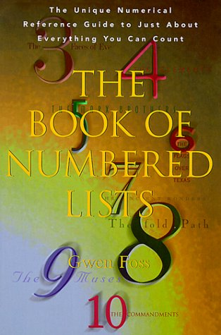 9780399524219: The Book of Numbered Lists : The Unique Numerical Reference Guide to Just about Everything You Can Count