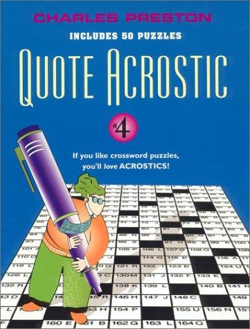 9780399527920: Quote Acrostic 4 (Quote Acrostic)
