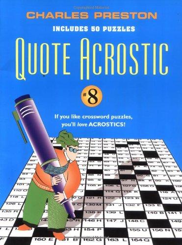 9780399530012: Quote Acrostic #8