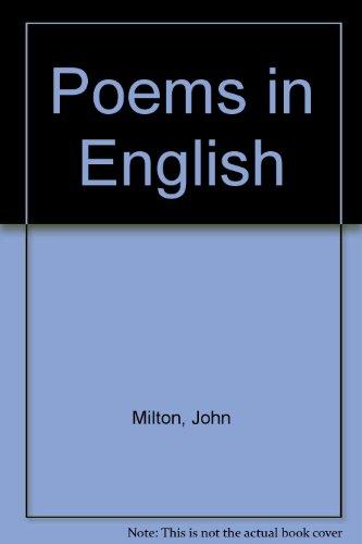 Poems in English: Milton, John