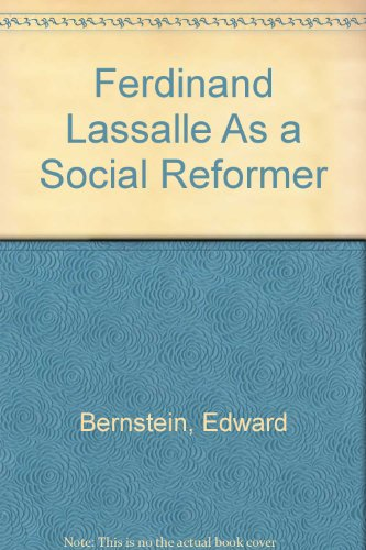 9780403005185: Ferdinand Lassalle As a Social Reformer