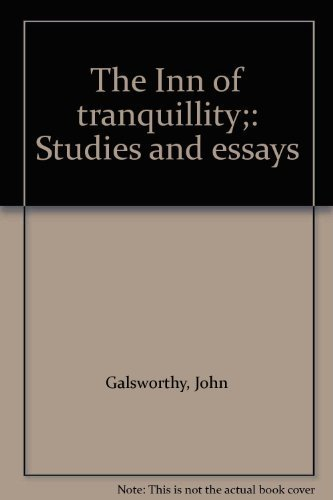 9780403006021: The Inn of tranquillity;: Studies and essays