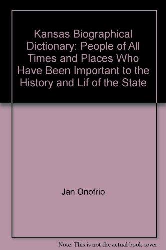 Kansas Biographical Dictionary: Jan Onofrio