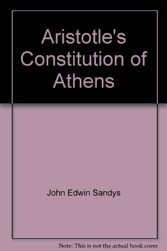 9780404003685: Aristotle's Constitution of Athens