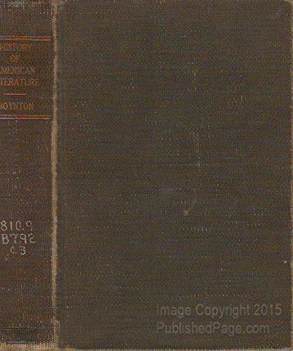 9780404009670: History of American Literature