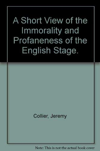 9780404016197: A Short View of the Immorality and Profaneness of the English Stage.