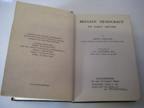 9780404050573: Belgian Democracy: Its Early History