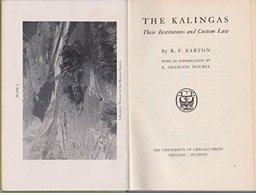 Kalingas, Their Institutions and Custom Law: Roy R. Barton