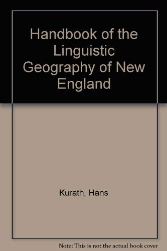 9780404100476: Handbook of the Linguistic Geography of New England