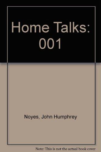 9780404107383: Home Talks: 001