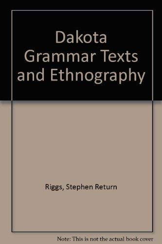 9780404118914: Dakota Grammar Texts and Ethnography