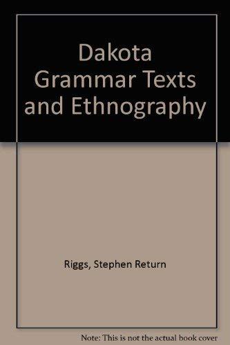 9780404118914: Dakota Grammar Texts and Ethnography