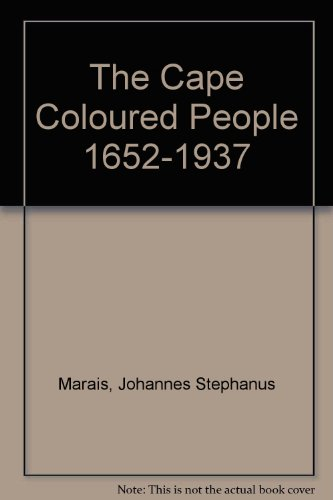 9780404121068: The Cape Coloured People 1652-1937
