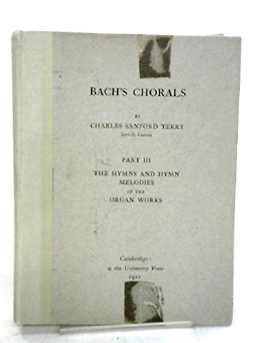 9780404131098: Bach's Chorals: Part I, II, and III