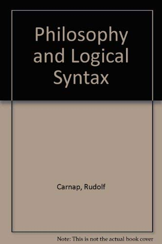 9780404145187: Philosophy and Logical Syntax