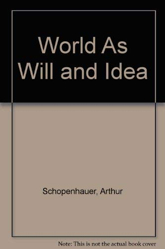 9780404150600: World As Will and Idea