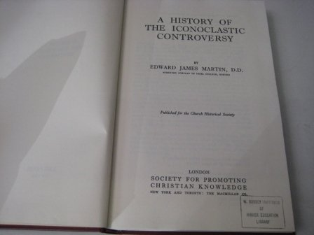 9780404161170: A History of the Iconoclastic Controversy