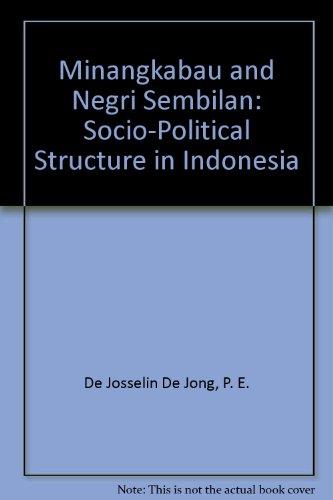 9780404167325: Minangkabau and Negri Sembilan: Socio-Political Structure in Indonesia