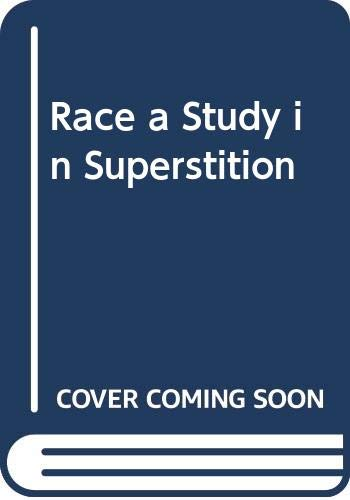 9780404168995: Race a Study in Superstition
