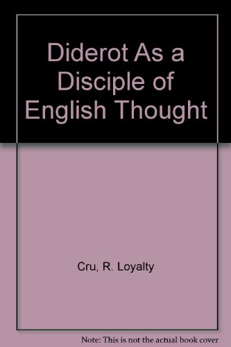 9780404506131: Diderot As a Disciple of English Thought