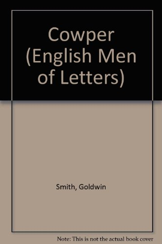 9780404517281: Cowper (English Men of Letters)