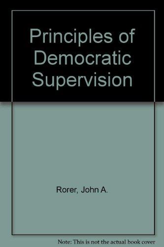 9780404558581: Principles of Democratic Supervision