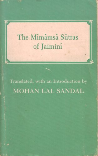 9780404578671: Introduction to the Mimamsa sutras of Jaimini