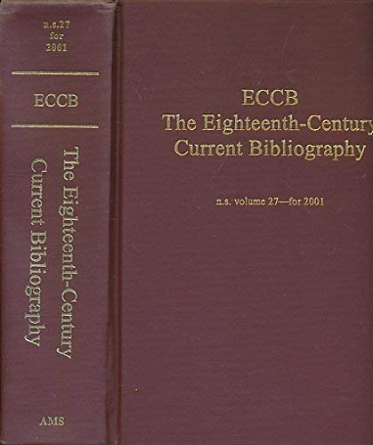 The Eighteenth Century, Vol. 27: A Current: Ams Pr Inc