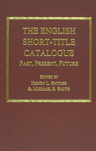 9780404635428: The English Short-Title Catalogue: Past, Present, Future (Ams Studies in the Eighteenth Century)