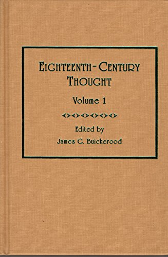 9780404637613: Eighteenth-Century Thought: Vol 1