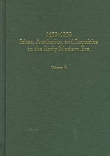 9780404644048: 1650-1850: Ideas, Aesthetics, & Inquiries in the Early Modern Era (IDEAS, AESTHETICS, AND INQUIRIES IN THE EARLY MODERN ERA)