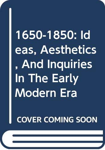 9780404644116: 1650-1850: Ideas, Aesthetics, And Inquiries In The Early Modern Era