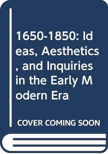 9780404644185: 1650-1850: Ideas, Aesthetics and Inquiries in the Early Modern Era: Volume 18