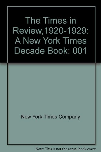 9780405003752: The Times in Review,1920-1929: A New York Times Decade Book