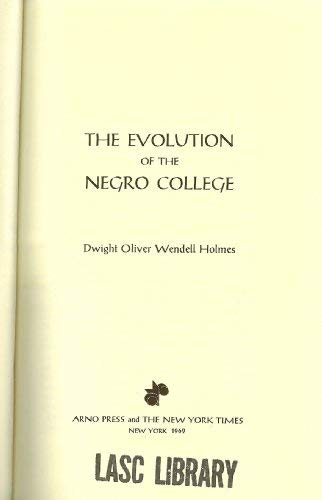 9780405018718: Evolution of the Negro College