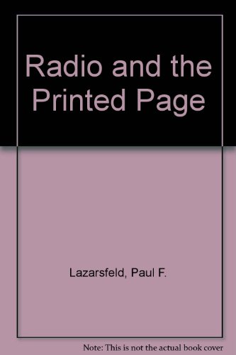 9780405035753: Radio and the Printed Page (History of broadcasting, radio to television)