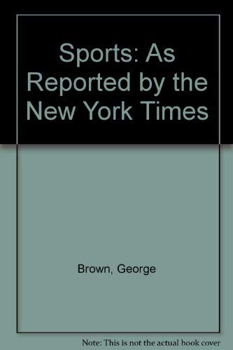 9780405066894: Sports: As Reported by the New York Times