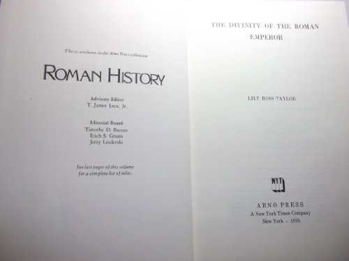 9780405070686: Divinity of the Roman Emperor (Roman History)
