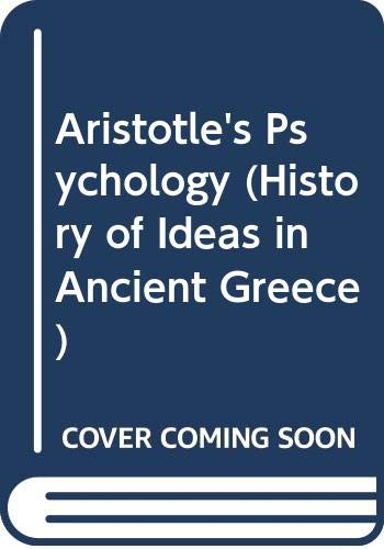 9780405072901: Aristotle's Psychology (History of Ideas in Ancient Greece)