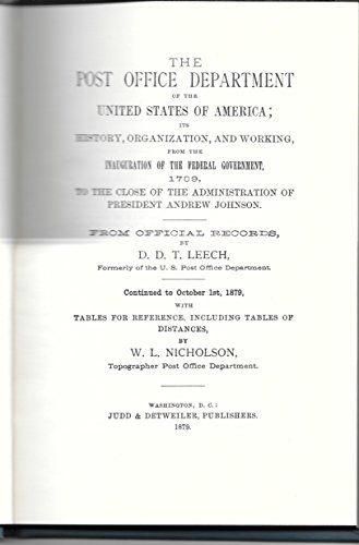 Post Office Department of the United States (America in two centuries, an inventory): Daniel D. ...