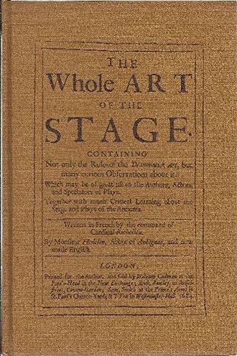 Whole Art of the Stage: Francois H. Aubignac